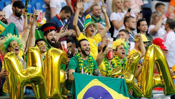 Navijači Brazila na Svetskom prvenstvu u fudbalu - Sputnik Srbija