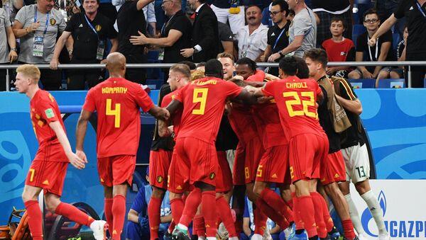 Белгијанци прослављају гол - Sputnik Србија