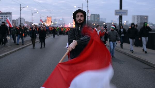Пољска застава, протест - Sputnik Србија
