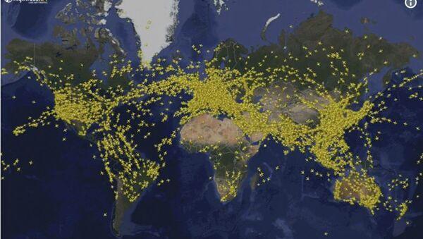 Avioni na nebu, mapa - Sputnik Srbija