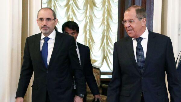 Министри спољних послова Јордана и Русије, Ајман Хусеин Абдала ел Сафади и Сергеј Лавров - Sputnik Србија