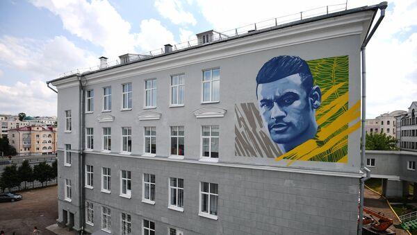 Mural sa likom Nejmara u Kazanju - Sputnik Srbija