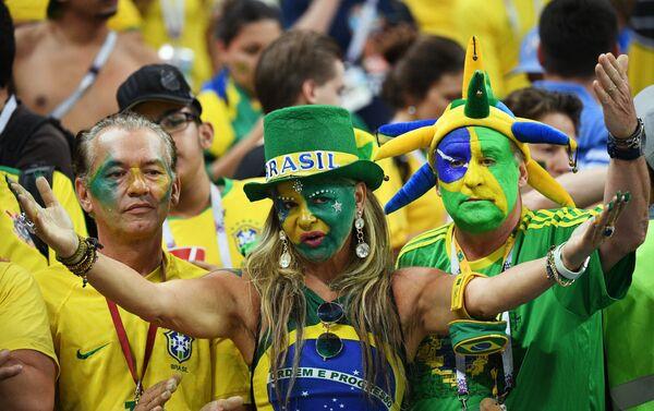 Navijači Brazila razočarani porazom svoje reprezentacije od Belgije u četvrtfinalu - Sputnik Srbija