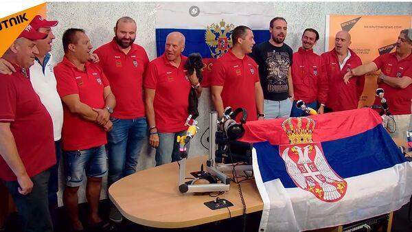 Ovako se srpski navijači pripremaju za meč Rusija-Hrvatska - Sputnik Srbija