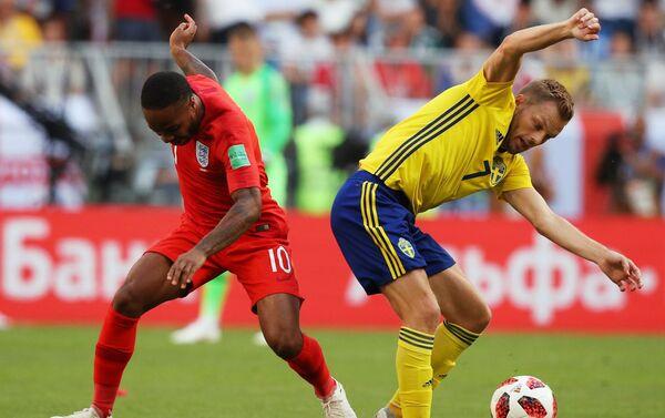 Detalj sa utakmice Švedska - Engleska - Sputnik Srbija