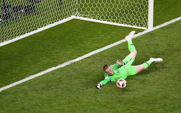 Engleski golman Pikford bio je nesavladiv protiv Šveđana. - Sputnik Srbija