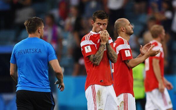 Reprezentativci Rusije tokom penal-ruleta na utakmici protiv Hrvatske - Sputnik Srbija