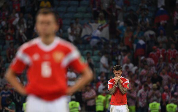 Fjodor Smolov nakon poraza od Hrvatske u četvrtfinalu - Sputnik Srbija