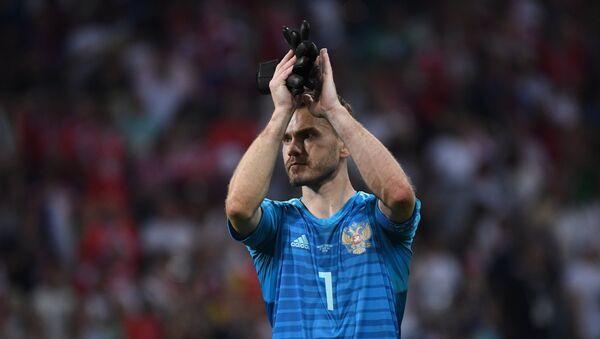 Golman fudbalske reprezentacije Rusije Igor Akinfejev na Svetskom prvenstvu u fudbalu - Sputnik Srbija