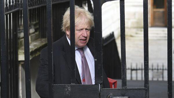 Ministar spoljnih poslova Velike Britanije Boris Džonson dolazi u Dauning strit. - Sputnik Srbija