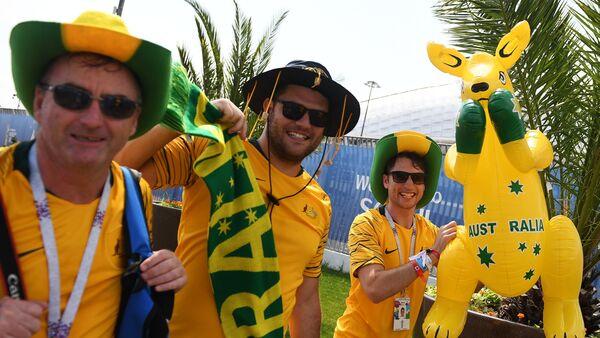 Navijači fudbalske reprezentacije Australije na Svetskom prvenstvu u fudbalu u Rusiji - Sputnik Srbija