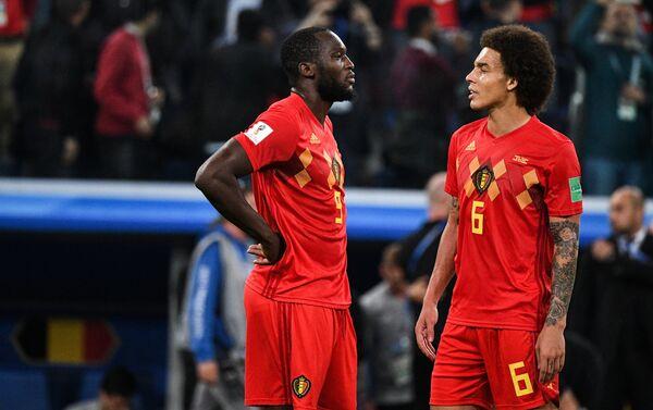 Razočarani reprezentativci Belgije nakon poraza od Francuske u polufinalu - Sputnik Srbija
