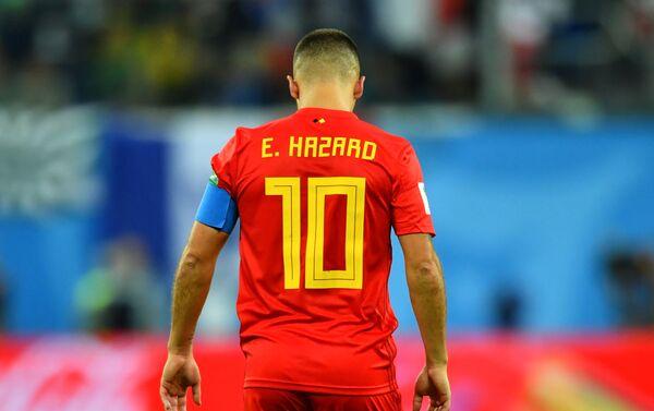 Belgijski reprezentativac Eden Azar razočaran nakon poraza od Francuske u polufinalu - Sputnik Srbija