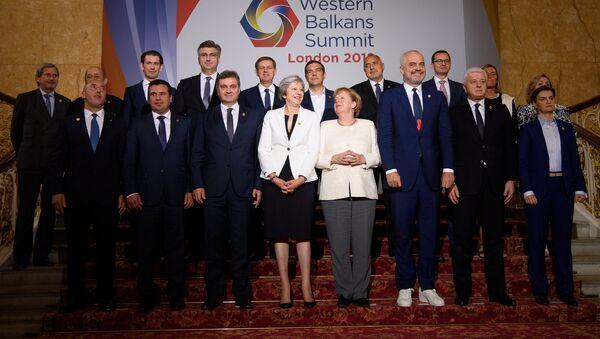 Grupni portret učesnika Samita Zapadni Balkan u okviru Berlinske inicijative održan u Londonu - Sputnik Srbija