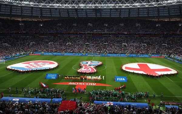 Početak meča Hrvatska  - Engleska - Sputnik Srbija