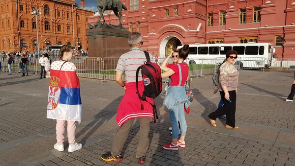 Atmosfera u Moskvi uoči utakmice Engleska - Hrvatska - Sputnik Srbija