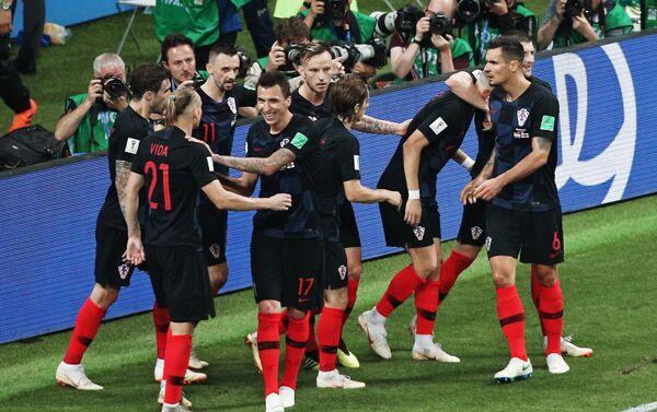 Hrvati proslavljaju izjednačenje posle gola Perišića - Sputnik Srbija