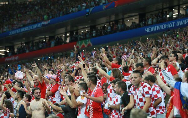 Navijači Hrvatske proslavljaju pobedu nad Engleskom i plasman u finale - Sputnik Srbija