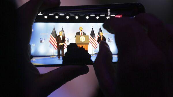 Konferencija za novinare Donalda Trampa na Samitu NATO-a u Briselu - Sputnik Srbija