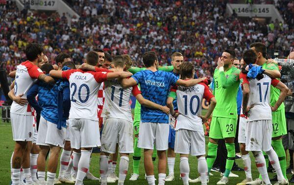 Репрезентативци Хрватске након завршетка финала против Француске - Sputnik Србија