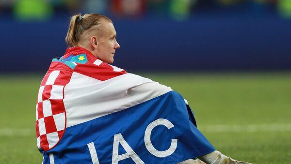 Hrvatski reprezentativac Domagoj Vida nakon poraza od Francuske u finalu SP u Rusiji - Sputnik Srbija