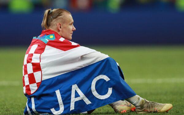 Хрватски репрезентативац Домагој Вида након пораза од Француске у финалу СП у Русији - Sputnik Србија