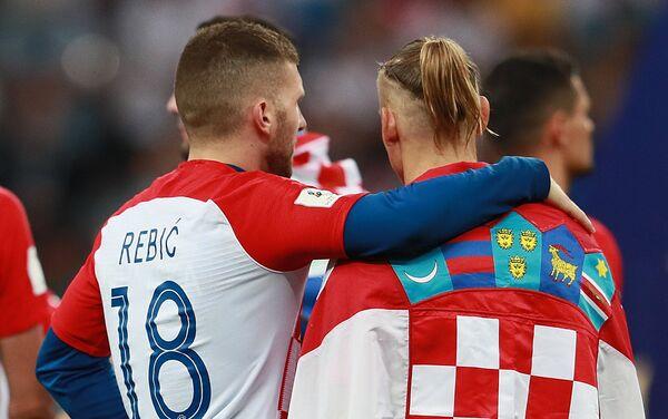 Хрватски репрезентативци разочарани поразом од Француске у финалу Светског првенства - Sputnik Србија