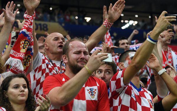 Хрватски навијачи разочарани поразом од Француске у финалу Светског првенства - Sputnik Србија
