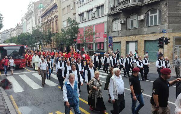 Београдске улице током данашње литије - Sputnik Србија