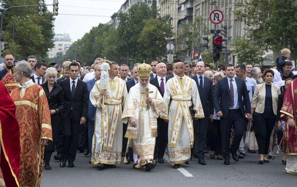 У литији је учествовао и патријарх Иринеј - Sputnik Србија