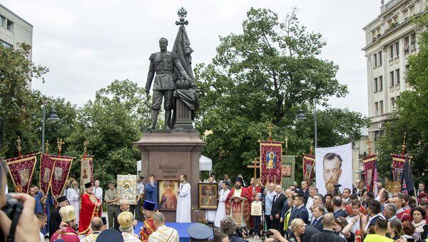 Литија је завршена испред споменика Цару Николају II Романову - Sputnik Србија