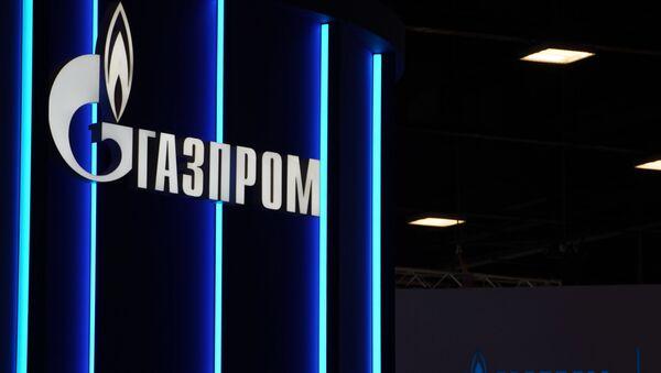 Logo kompanije Gasprom na Peterburškom međunarodnom ekonomskom forumu - Sputnik Srbija