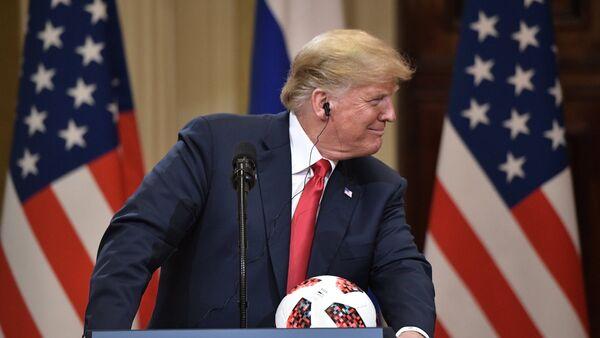 Председник САД Доналд Трамп на конференцији за медије у Хелсинкију - Sputnik Србија