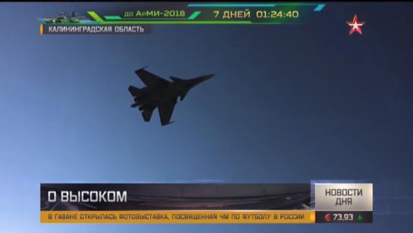 Трка суперсоничном брзином: Су-27 показао како се одвојити од противника - Sputnik Србија
