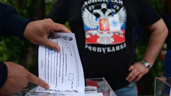 Гласање на референдуму у Доњецку 2014. године - Sputnik Србија