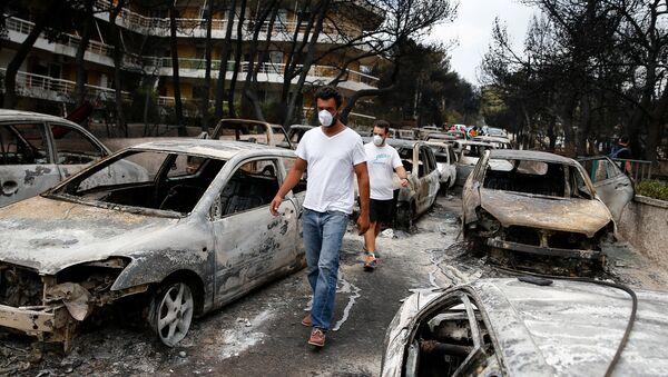 Posledica požara u blizini Atine, Grčka - Sputnik Srbija