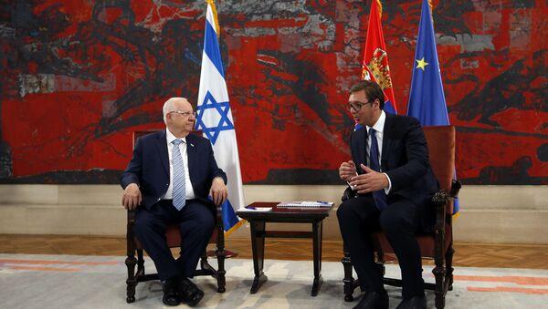 Председник Израела Рувен Ривлин и председник Александар Вучић - Sputnik Србија