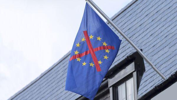 Прекрижена застава ЕУ - Sputnik Србија