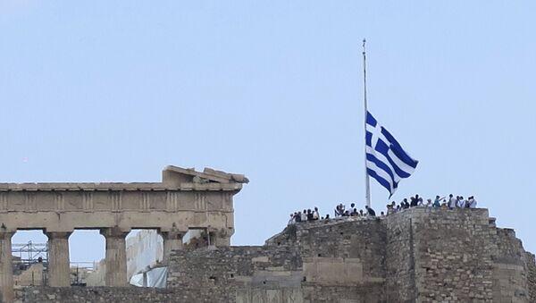 Zastava na pola koplja u Grčkoj zbog dana žalosti za stradalima u požaru kod Atine - Sputnik Srbija