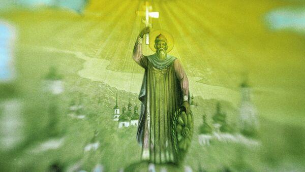 Ikona, oslikana u čast 1000-godišnjice krštenja Rusa - Sputnik Srbija