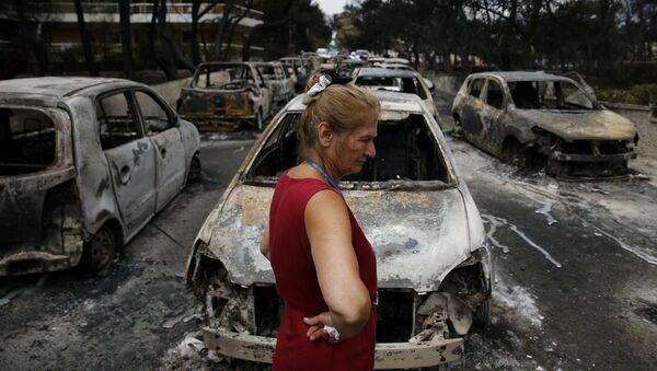 Последице пожара у Грчкој, близу Атине - Sputnik Србија
