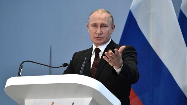 Председник Русије Владимир Путин на самиту БРИКС-а - Sputnik Србија