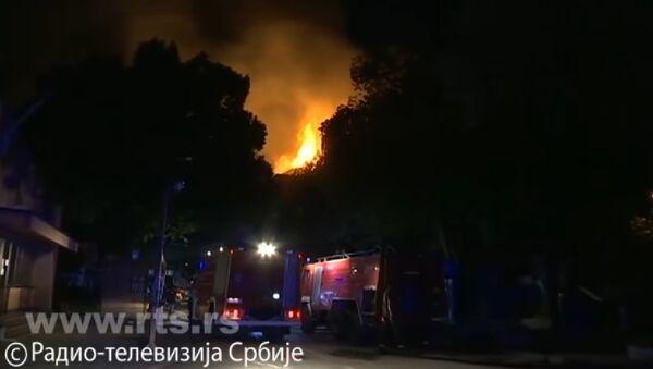 Požar u hotelu Partizan u Niškoj Banji - Sputnik Srbija