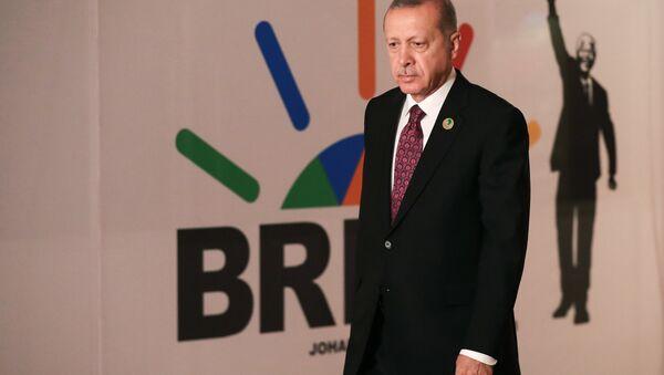 Реџеп Тајип Ердоган на самиту БРИКС-а у Јоханесбургу - Sputnik Србија