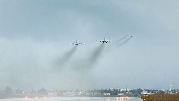 Ruski vojni avioni u bazi Hmejmim u Siriji - Sputnik Srbija
