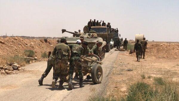 Сиријска војска на граници са Јорданом у провинцији Дера - Sputnik Србија