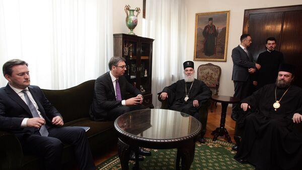 Aleksandar Vučić i patrijarh Irinej - Sputnik Srbija