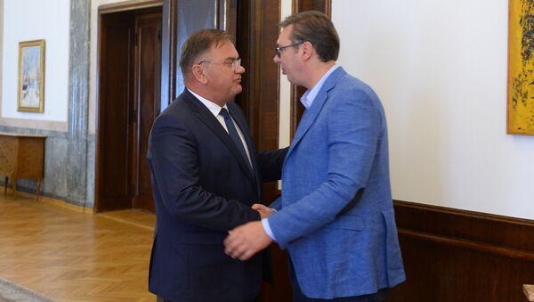 Aleksandar Vučić i Mladen Ivanić - Sputnik Srbija
