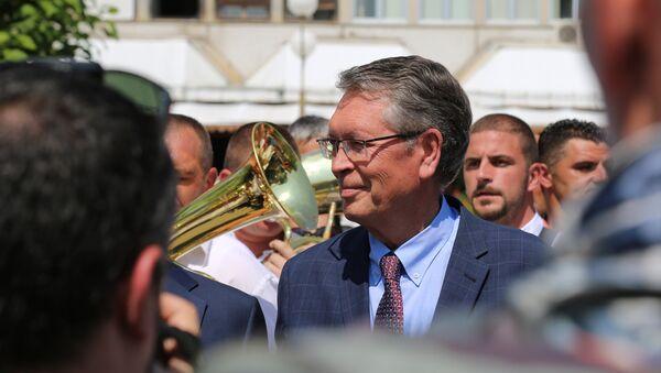 Ruski ambasador Aleksandar Čepurin na Saboru u Guči. - Sputnik Srbija