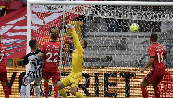 Рикардо Гомеш постиже први гол за Партизан на утакмици против данског Нордсјеландa у трећем колу квалификација за Лигу Европе - Sputnik Србија